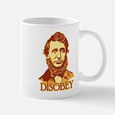 """Thoreau """"Disobey"""" Mug"""
