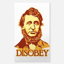 "Thoreau ""Disobey"" Sticker (Rectangle)"