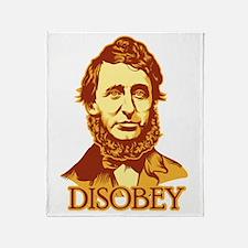 """Thoreau """"Disobey"""" Throw Blanket"""
