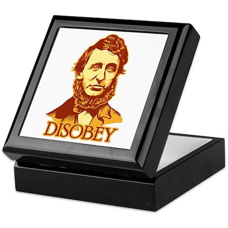 """Thoreau """"Disobey"""" Keepsake Box"""