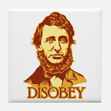 "Thoreau ""Disobey"" Tile Coaster"