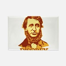 "Thoreau ""Disobey"" Rectangle Magnet"