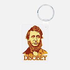 """Thoreau """"Disobey"""" Keychains"""