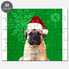 Christmas Bullmastiff puppy Puzzle