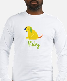 Ruby Loves Puppies Long Sleeve T-Shirt