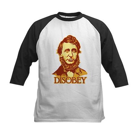 """Thoreau """"Disobey"""" Kids Baseball Jersey"""