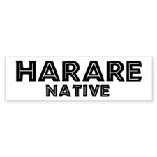 Harare Native Bumper Bumper Sticker