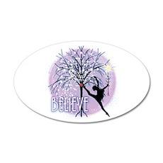 Believe by DanceShirts.com 22x14 Oval Wall Peel