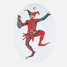 Joker - What A Dancing Fool Ornament (Oval)