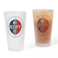 We Occupy 99% Drinking Glass