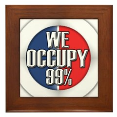 We Occupy 99% Framed Tile