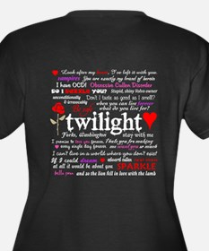 Twilight Quotes Women's Plus Size V-Neck Dark T-Sh