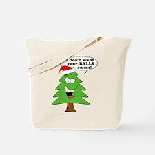 Funny Merry Christmas tree Tote Bag