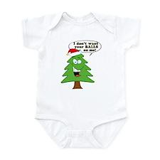 Funny Merry Christmas tree Infant Bodysuit