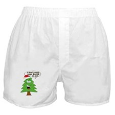 Funny Merry Christmas tree Boxer Shorts