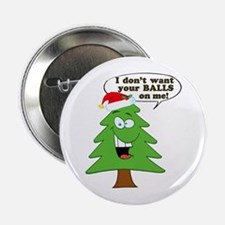 """Funny Merry Christmas tree 2.25"""" Button"""