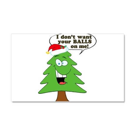 Funny Merry Christmas tree Car Magnet 20 x 12