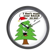 Funny Merry Christmas tree Wall Clock