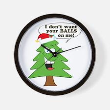 Funny Merry Christmas tree Wall Clock
