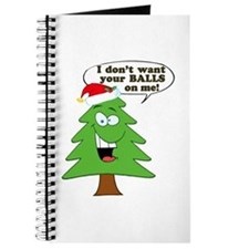 Funny Merry Christmas tree Journal
