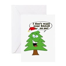 Funny Merry Christmas tree Greeting Card
