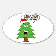 Funny Merry Christmas tree Decal