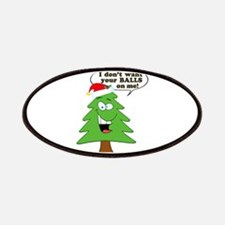 Funny Merry Christmas tree Patches