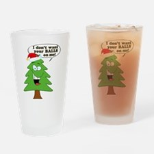 Funny Merry Christmas tree Drinking Glass