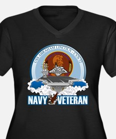 CVN-72 USS Lincoln Women's Plus Size V-Neck Dark T