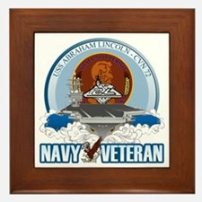 CVN-72 USS Lincoln Framed Tile