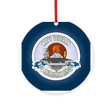 CVN-72 USS Lincoln Ornament (Round)