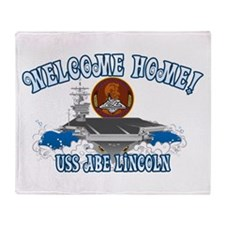Welcome USS Lincoln! Throw Blanket