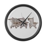 Student Desk Rows Large Wall Clock