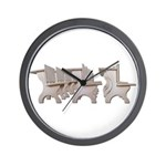 Student Desk Rows Wall Clock