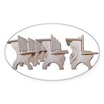 Student Desk Rows Sticker (Oval 50 pk)