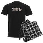 Student Desk Rows Men's Dark Pajamas