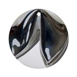 Silver Fortune Cookie Ornament (Round)