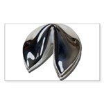 Silver Fortune Cookie Sticker (Rectangle 50 pk)