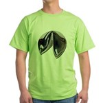 Silver Fortune Cookie Green T-Shirt