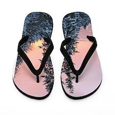 Helaine's Snow Sunset Flip Flops