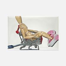 Shopping Online Bunny Slipper Rectangle Magnet