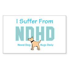 Need Dog Hugs Daily Decal
