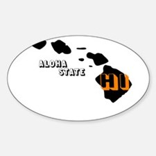 HI ALOHA STATE Oval Decal