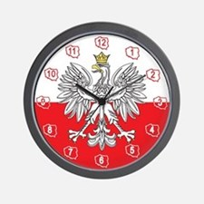 Polish Eagle With Gold Crown Wall Clock