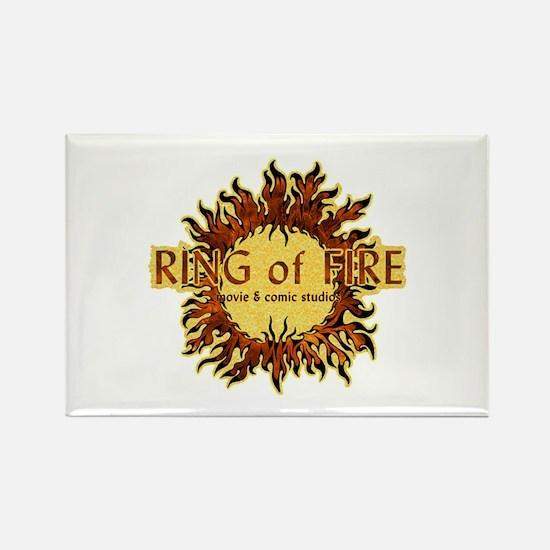 Sun Fire logo Rectangle Magnet