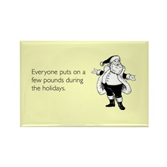 Holiday Pounds Rectangle Magnet