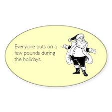 Holiday Pounds Sticker (Oval)