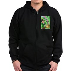 Luck of The Irish Zip Hoodie (dark)