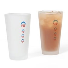 Cute Obama Drinking Glass