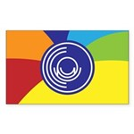 Occupy Wall Street Flag Sticker (Rectangle)